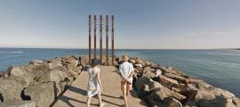 Una de les tres versions de l''Estripagecs' de Perth: aquest aniria sobre l'espigó.