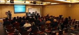 Primera sessió informativa de la quarta edició del LAB Impact Andorra, ahir.