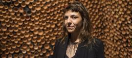 L'artista massanenca, al pavelló andorrà de la Biennal de Venècia, el maig del 2017.]