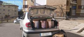 El tabac era transportat al maleter del vehicle.