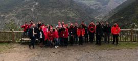 Grup de voluntaris de la Creu Roja participants en la trobada de Grandalla.