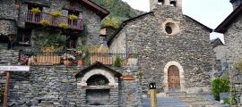 L'església de Sant Serni de Llorts, aixecada a finals del segle XVII.