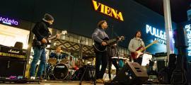 Sandrini, D'Annunzio, Blanco, Lepoix i Díaz, l'1 de novembre a Carlemany, en l'últim Shopping Festival: era el seu segon bolo amb públic.