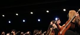 L'Orquestra de Guitarres de Barcelona va debutar ahir al Festival de guitarres.