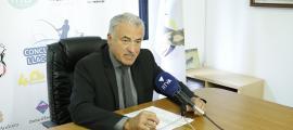 El president de la Facip, Josep M. Cabanes, va presentar ahir el 40è Concurs de pesca.