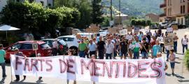 La manifestació de ramaders del 28 de juny d'enguany a Sort.