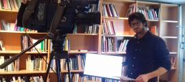El politòleg català Gerard Pasanau va presentar ahir 'El funcionament intern dels partits polítics andorrans' al Cehip.