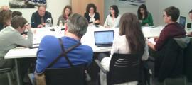 Un moment de la reunió de treball que va tenir lloc ahir a la tarda.