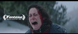 Aida Folch, Marie a 'Le Blizzard', amb la mosca que acredita la selecció per a la 23a edició del Fantasia International Film Festival.