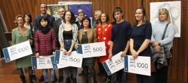 Els guanyadors de la 8a edició de la Mostra va rebre el premi, ahir als Arcs.