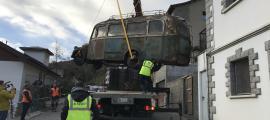 Retirada del Dodge de Fontaneda, el 15 de desembre passat: va ser una operació espectacular.