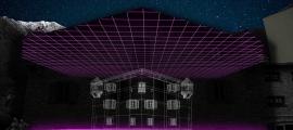 Simulació del 'videomapping' que es projectarà a Casa de la Vall el 8 i el 9 de desembre.