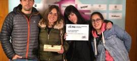 Rodríguez Areny, amb el premi del Carnet Jove que va rebre l'any passat per 'Le Blizzard'.