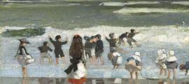 'Escena de platja' (oli sobre tela, cap al 1869) formava part de 'Femina Feminae', i en endavant se'n podrà contemplar una rèplica.