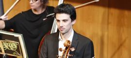 El violoncel·lista Daniel Claret, a l'últim concert de Cap d'Any a l'Auditori.