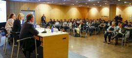 La conferència sobre la intervenció en persones amb TEA va tenir lloc al Centre de Congressos, ahir a la tarda.