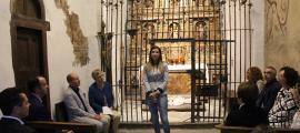 La ministra de Cultura, Sílvia Riva, en la presentació dels treballs de restauració.