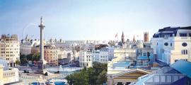 'Mirant enrere a Richmond House', acrílic sobre tela de Ben Johnson, 183 per 274 centímetres (2011).