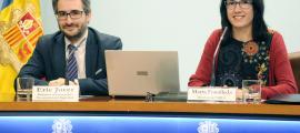 Jover i Fonolleda van presentar ahir l'estudi sobre la inserció laboral dels universitaris.