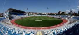 L'estadi Fadil Vokrri de Pristina que acollirà la ronda preliminar de la Lliga de Campions.