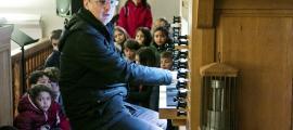 L'orgue ibèric de Sant Iscle, amb dos teclats i 19 registres partits, construït el 2007.