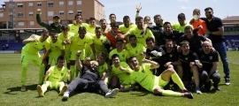 L'FC Andorra va celebrar a El Collao la seva classificació pel 'play-off'. Foto: FC Andorra