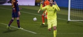 Víctor Casadesús celebra el gol de la victòria. Foto: FC Andorra