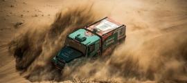 Llovera, Torres i Marco durant la cinquena etapa del Dakar.