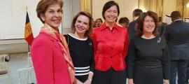 Les ambaixadores de Costa Rica, Colòmbia, Estònia i Croàcia.