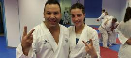 Sandra Herver amb Ivan Leal.