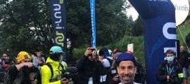Òscar Casal ahir al matí abans de la sortida de l'OCC de l'Ultra Trail del MontBlanc.