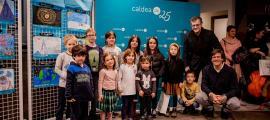 Foto de família dels guanyadors amb Guillermo Cervera i Miguel Pedregal.