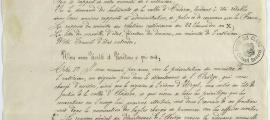 Còpia microfilmada del decret imperial del 27 de març del 1806 conservada a l'Arxiu.