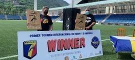 El primer torneig internacional de rugbi a 7 es va presentar ahir a l'Estadi Nacional. Foto: FAR