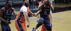 Clevin Hannah va liderar la victòria del BC MoraBanc contra el València Basket, que acumulava 12 victòries consecutives.Foto: Facundo Santana