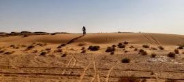 Ramon Aranda, a les dunes de la Titan. Foto: Foto cedida per Ramon Aranda
