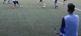La selecció es va entrenar ahir a l'Estadi Nacional per preparar el partit contra Gibraltar. Foto: Facundo Santana