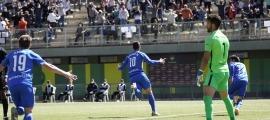 Carlos Martínez va marcar diumenge l'únic gol del partit contra l'UD Ibiza-Eivissa. Foto: FC Andorra