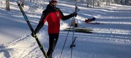Carola Vila va competir ahir al Campionat del Món d'Oberstdorf. Foto: FAE