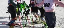 Els esquiadors, a la pista Bosc. Foto: FAE