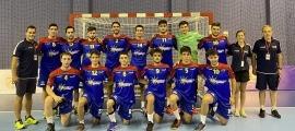 La selecció absoluta d'Andorra, a Tbilisi. Foto: FAH