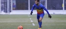 Hector Hevel, el migcampista 'oranje' de l'FC Andorra, que és espanyol per part de mare. Foto: FC Andorra