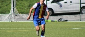 Joan Cervós, amb la tricolor. Foto: FC Andorra