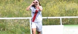 Celebració del gol de Tere Morató. Foto: Twitter Rayo Vallecano femení