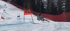 Joan Verdú, en els entrenaments a Cortina d'Ampezzo, no competirà avui a Sella Nevea. Foto: FAE