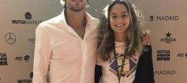 Feliciano López amb Vicky Jiménez
