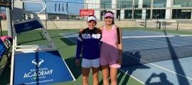 Lucía Cortez i Vicky, equip de dobles. Foto: Joan Jiménez