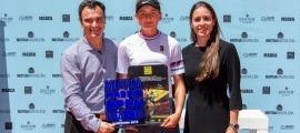 Vicky Jiménez, amb el títol del 2019. Foto: Mutua Open Madrid