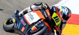 Xavi Cardelús va tornar a competir contra els millors pilots del món de Moto2. Foto: Promoracing