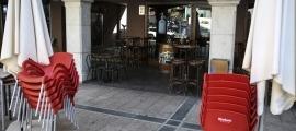 Un establiment tancat a la plaça Guillemó d'Andorra la Vella.